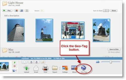 Geotag Button in Picasa