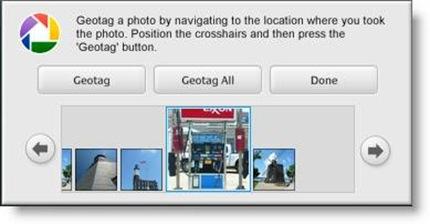 Geotag menu in Google Earth