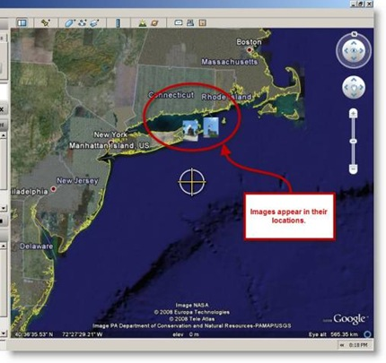 Geotagged images in Google Earth