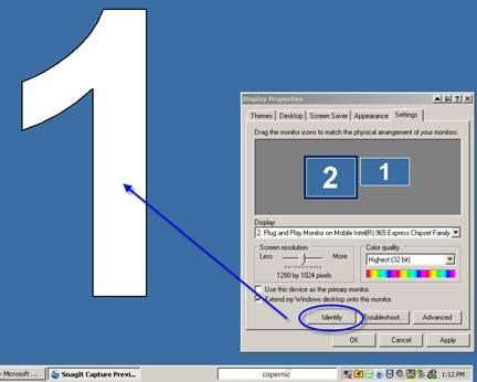 identify monitors