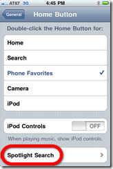 settings home screen