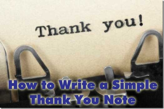 how to write thank you note