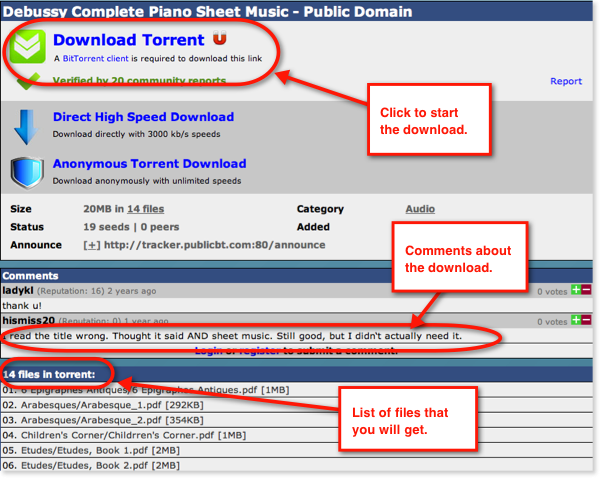 Download torrent file