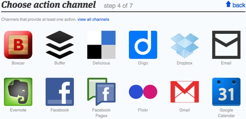 Ifttt chose action