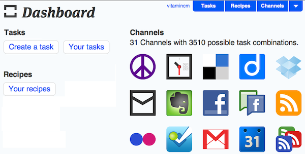Ifttt create task button