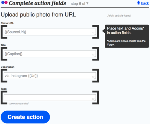 Ifttt flickr actions