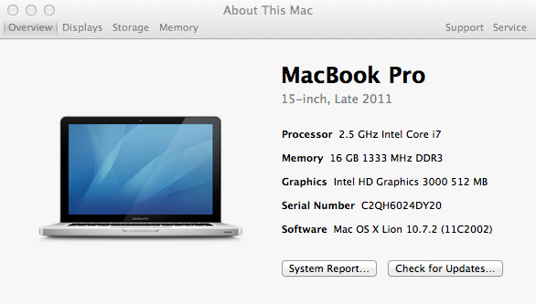 specs 4 Making a Macbook Pro that Kills Apples for $790 Less   Part 2 Installing the Upgraded Components
