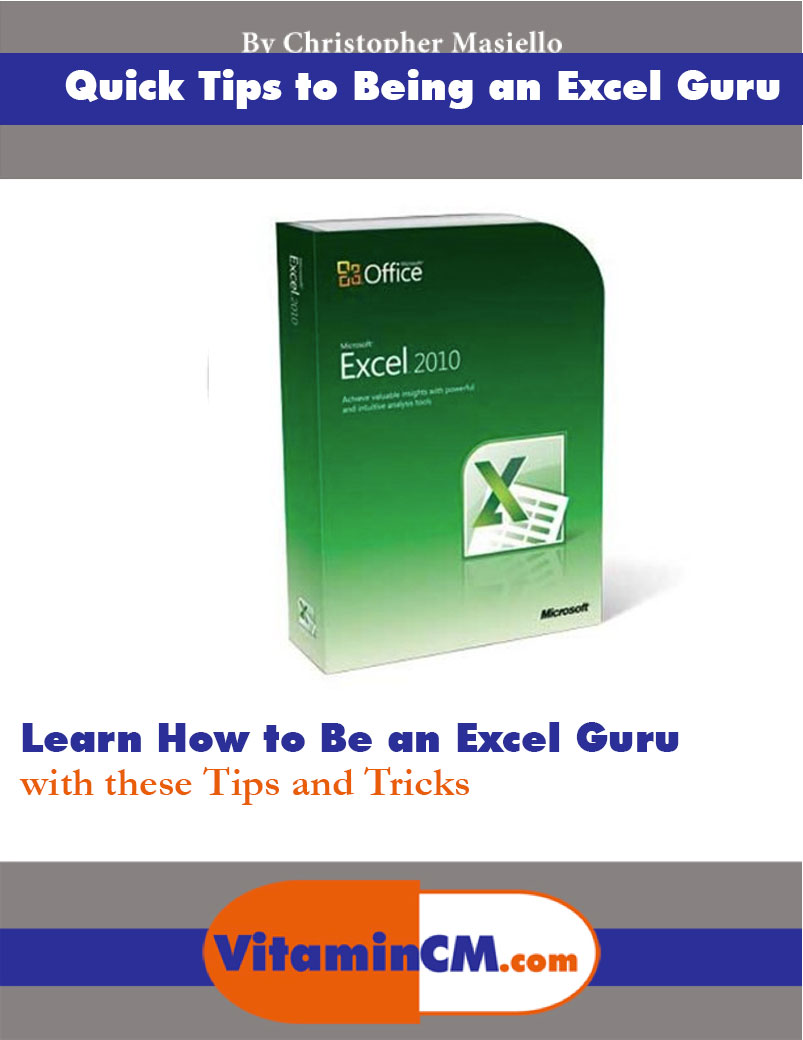 Excel Quick Tips Ebook
