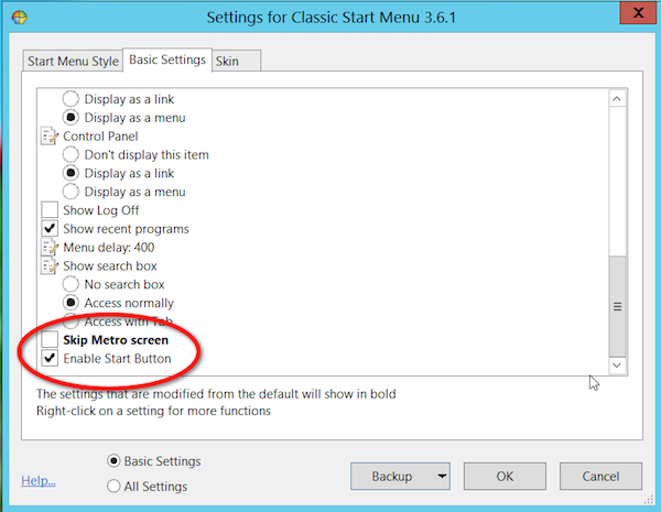 classicshell skip metro screen Fixing Windows 8   How to Add a Start Button