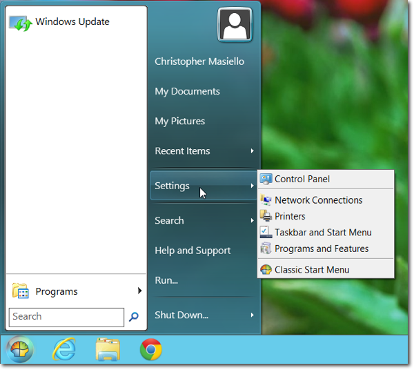 classicshell start menu Fixing Windows 8   How to Add a Start Button