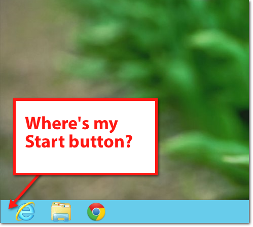 windows 8 no start button Fixing Windows 8   How to Add a Start Button