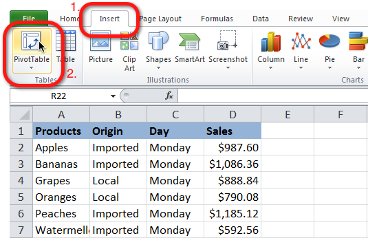 excel pivot table tutorial 02 Excel Pivot Table Tutorial