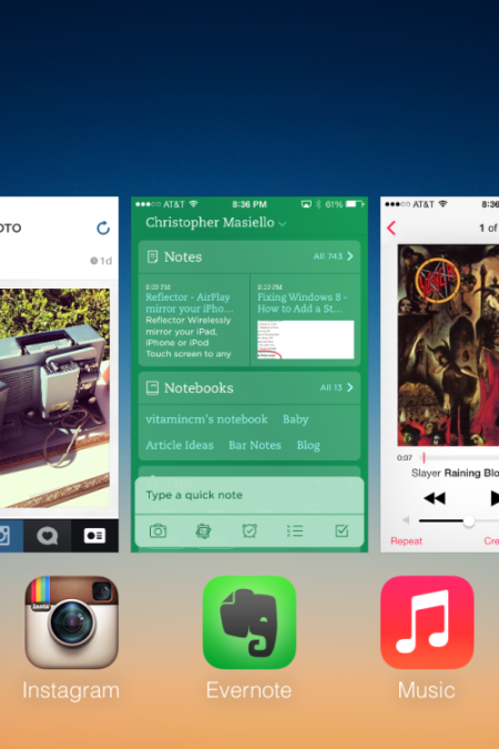 iOS 7 Multitask Screen