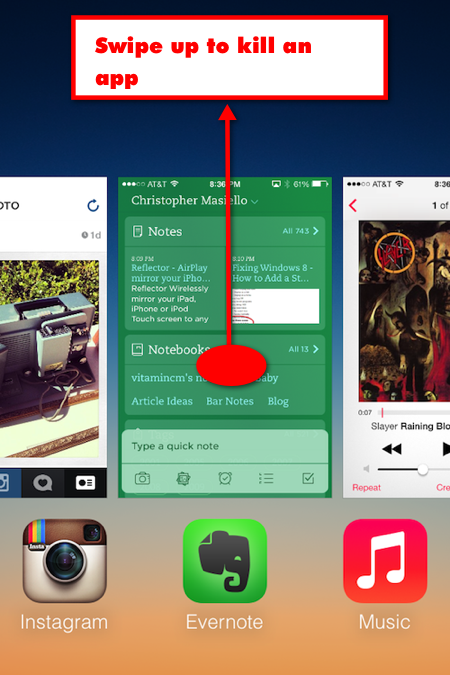 multi task screen1 How to Shut Down Background Apps in iOS 7